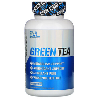 EVLution Nutrition, 綠茶,60 粒素食膠囊
