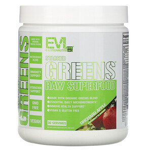 EVLution Nutrition, Stacked Greens Raw Superfood, Orchard Apple, 5.7 oz (162 g)