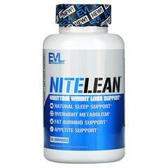 EVLution Nutrition, NiteLean,夜間輕體支持,30 粒素食膠囊
