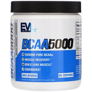 EVLution Nutrition, BCAA5000, Unflavored, 10.58 oz (300 g)