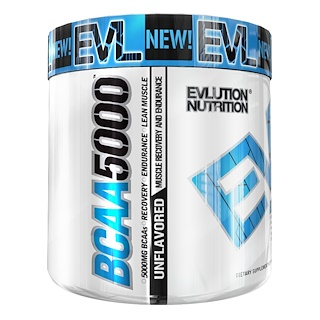 EVLution Nutrition, BCAA5000、調味料不使用、300g