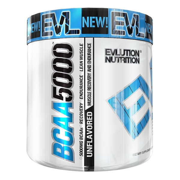 EVLution Nutrition, BCAA 5000, Unflavored , 10.6 oz (300 g)