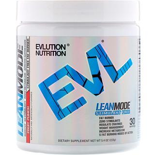 EVLution Nutrition, LeanMode,水果賓治,5.4盎司(153克)