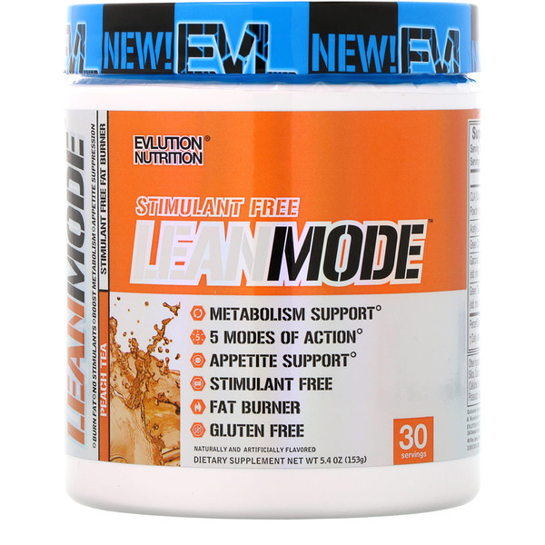 EVLution Nutrition, Lean Mode, Peach Tea, 5.4 oz (153 g) (Discontinued Item)