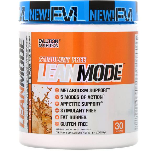 EVLution Nutrition, Modo Magro, té de durazno, 5,4 onzas (153 g) (Discontinued Item)
