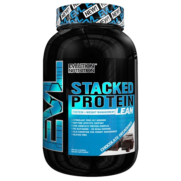 EVLution Nutrition, Stacked Protein Lean, Chocolate Decadence, 2 lb (909 g) (Discontinued Item)