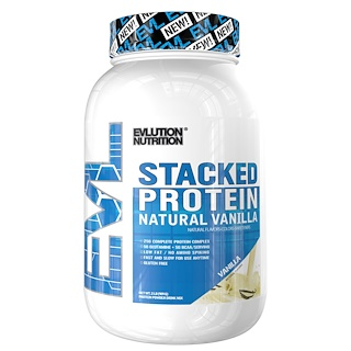 EVLution Nutrition, Stacked Protein, Natural Vanilla, 2 lbs (909 g)