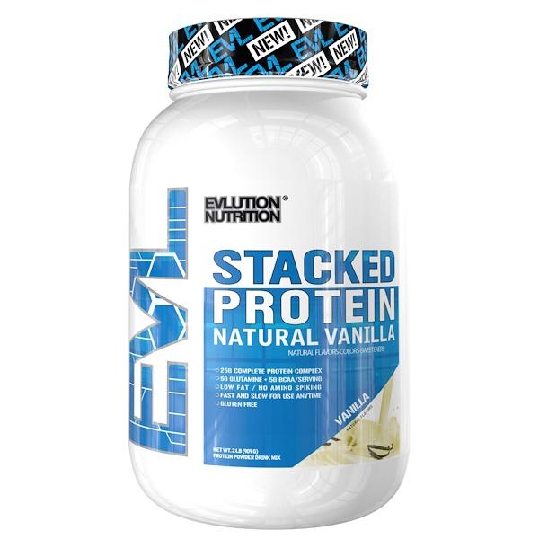EVLution Nutrition, 累積蛋白天然香草,2磅(909克)