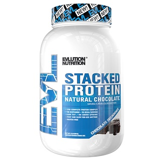EVLution Nutrition, Stacked Protein, Natural Chocolate, Chocolate Decadence, 2 lb (909 g)