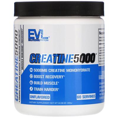Купить EVLution Nutrition CREATINE5000, Unflavored, 10.58 oz (300 g)