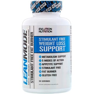 Evlution Nutrition Lean Mode Stimulant Free Fat Burner Supplement 150 Capsules