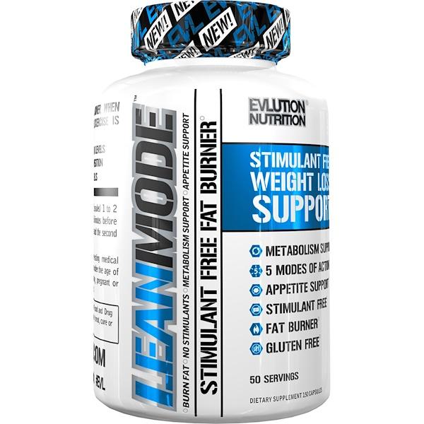 EVLution Nutrition, Lean Mode, Stimulant Free, 150 Capsules