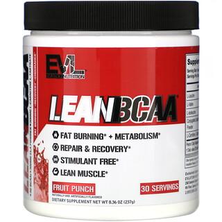 EVLution Nutrition, LEANBCAA, Fruit Punch, 8.36 oz (237 g)