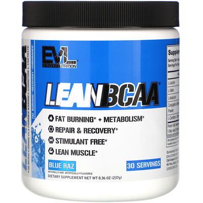 Lean BCAA, Blue Raz, 8.36 oz (237 g)