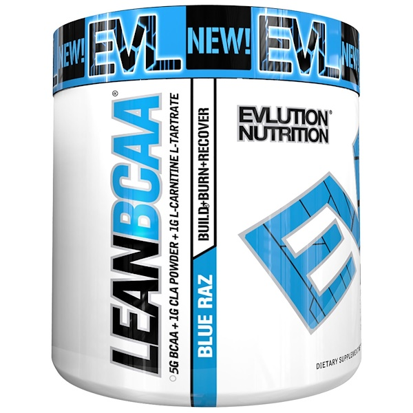 EVLution Nutrition, Lean BCAA, Blue Raz, 9.4 oz (267 g)