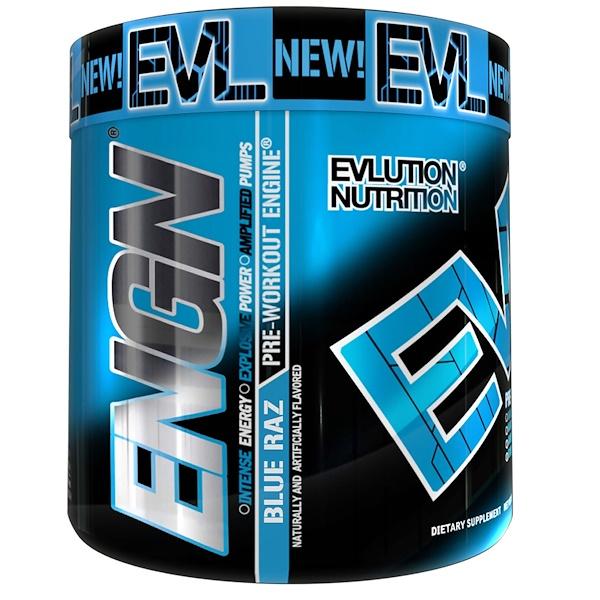 EVLution Nutrition, ENGN鍛煉前,Blue Raz,8、9盎司(252克)