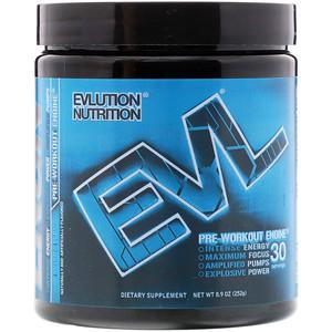 Эвлюшэн Нутришен, ENGN Pre-Workout, Blue Raz, 8.9 oz (252 g) отзывы покупателей