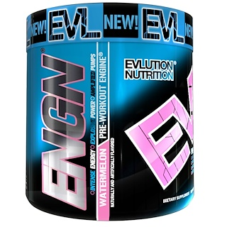 EVLution Nutrition, ENGN Pre-Workout, Watermelon, 7.9 oz (252 g)