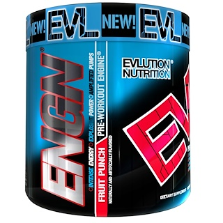 EVLution Nutrition, ENGN Pre-Workout, Fruit Punch, 9.1 oz (258 g)