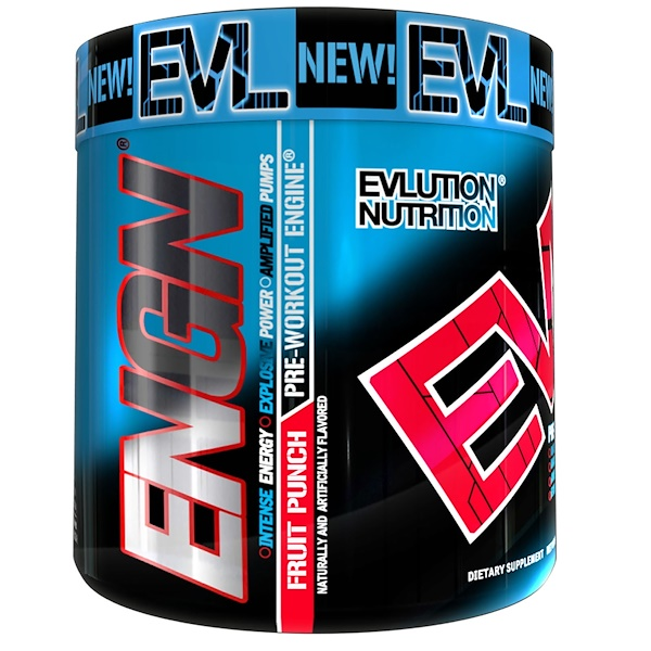 EVLution Nutrition, ENGN Pre-Workout, Fruit Punch, 9.1 oz (258 g) (Discontinued Item)