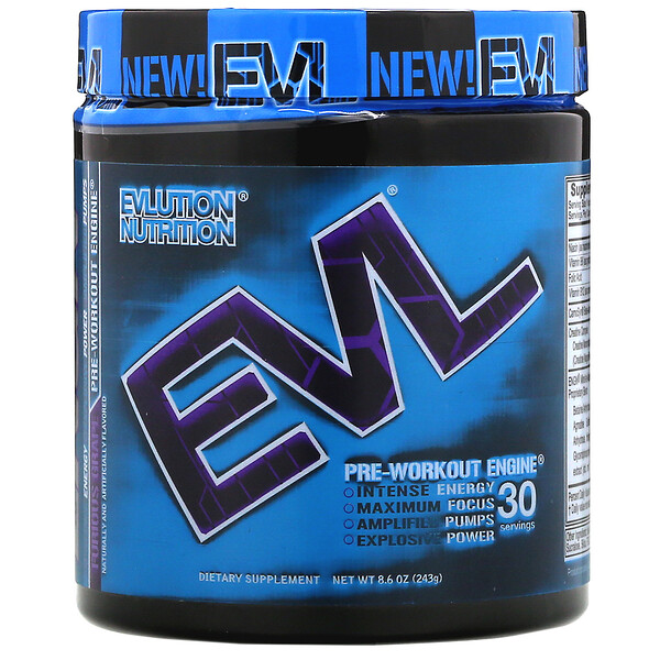 EVLution Nutrition, ENGN, Pre-Workout Engine, Furious Grape, 8.6 oz (243 g)