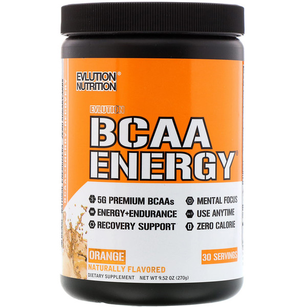 EVLution Nutrition, BCAA Energy, Orange Dream, 10.01 oz (285 g)