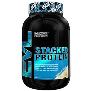 Эвлюшэн Нутришен, Stacked Protein Drink Mix, Vanilla Ice Cream, 2 lb (900 g) отзывы