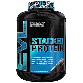 EVLution Nutrition, Stacked Protein, Chocolate Decadence, 4 lb (1,813 g)