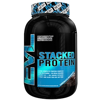 EVLution Nutrition, Stacked Protein Drink Mix, Chocolate Decadence, 2 lb (888 g)