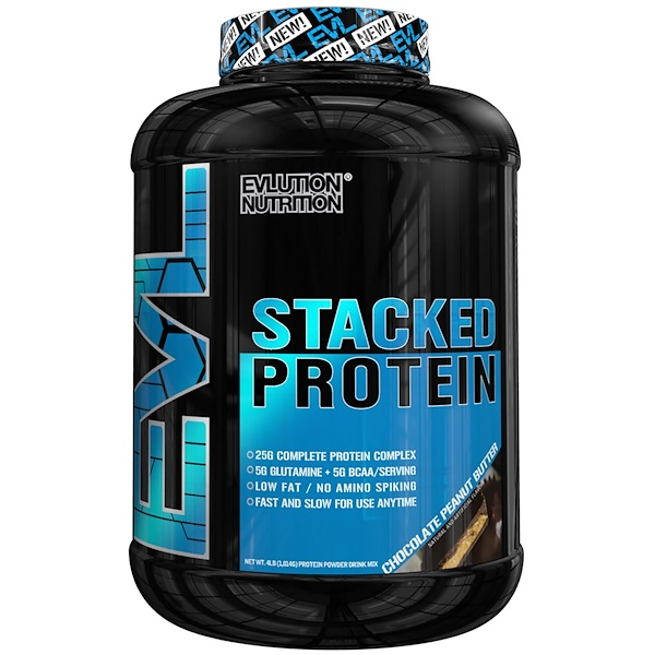 EVLution Nutrition, Stacked Protein, Chocolate Peanut Butter, 4 lb (1,813 g) (Discontinued Item)