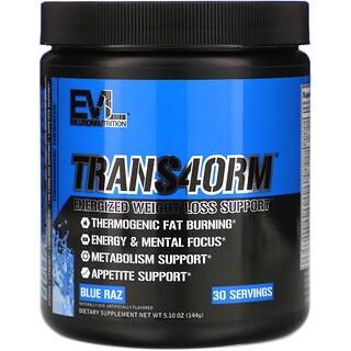 EVLution Nutrition, Trans4orm,藍色拉茲味,5.10 盎司(144 克)