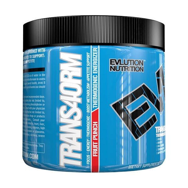 EVLution Nutrition, Trans4orm, Fruit Punch, 5.3 oz (150 g)