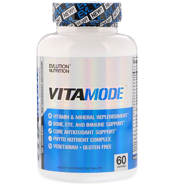 EVLution Nutrition, VitaMode, High Performance Multi Vitamin, 120 Tablets