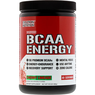 EVLution Nutrition, BCAAエナジー、チェリーライムエード、282g