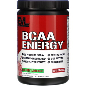 Эвлюшэн Нутришен, BCAA ENERGY, Cherry Limeade, 9.95 oz (282 g) отзывы покупателей