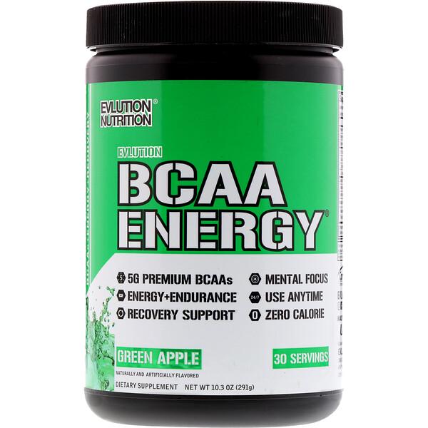 EVLution Nutrition, BCAA Energie, Pomme verte, 10.2 oz (291 g) (Discontinued Item)
