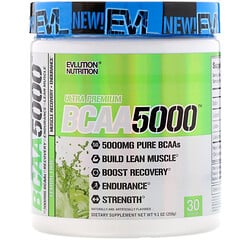EVLution Nutrition, BCAA 5000、レモンライム、258g