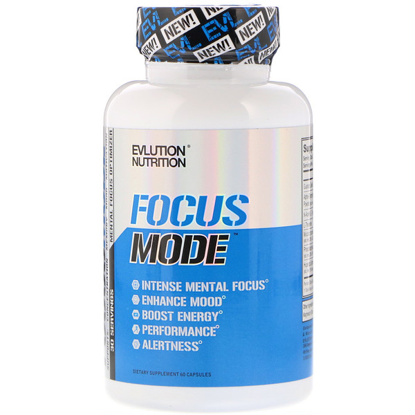 EVLution Nutrition, Focus Mode, 60 cápsulas