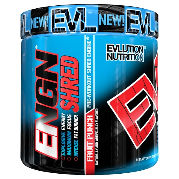 EVLution Nutrition, ENGN Shred, Fruit Punch Pre-Workout, Net Wt 8.1 oz (231 g) (Discontinued Item)