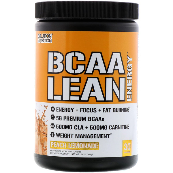 EVLution Nutrition, BCAA Lean Energy, Peach Lemonade, 13.3 oz (378 g)