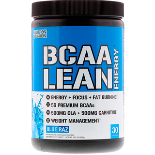 EVLution Nutrition, BCAA Lean Energy, Blue Raz, 11.2 oz (318 g)