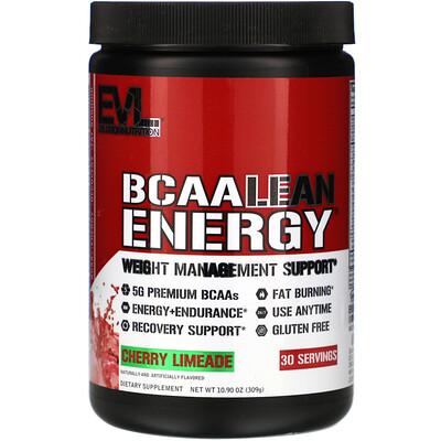 EVLution Nutrition BCAA Lean Energy, Cherry Limeade, 10.90 oz (309 g)