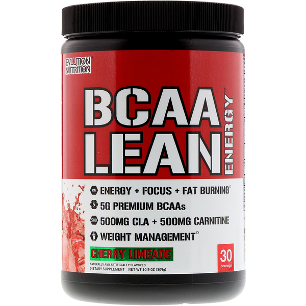 EVLution Nutrition, BCAA 瘦身能量,櫻桃檸檬汁,11、6盎司(330克)