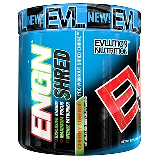 EVLution Nutrition, ENGN Shred, Kirsche Limonenwasser Pre-Workout, 8.1 oz (231 g)