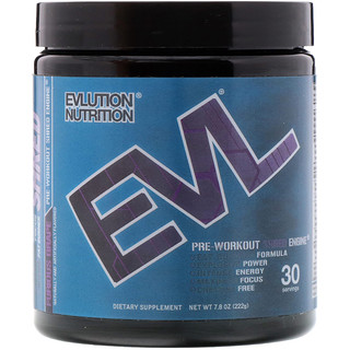 EVLution Nutrition, ENGN Shred, Pre-Workout Shred Engine, Furious Grape, 7.8 oz (222 g)