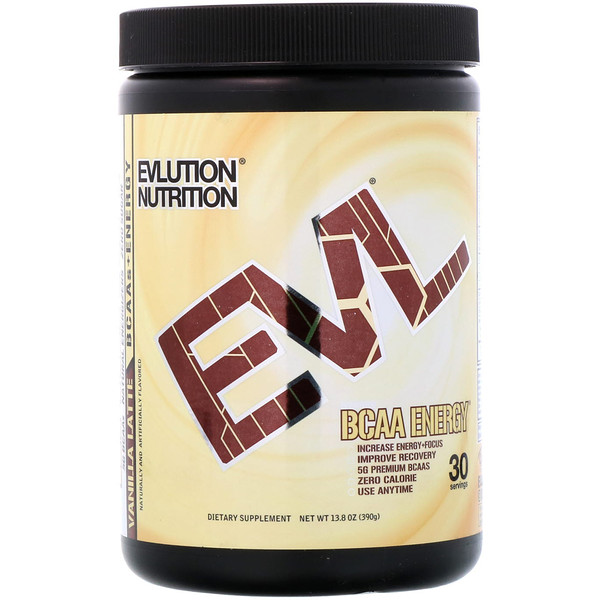EVLution Nutrition, BCAA Energy, Vanilla Latte, 13.8 oz (390 g) (Discontinued Item)