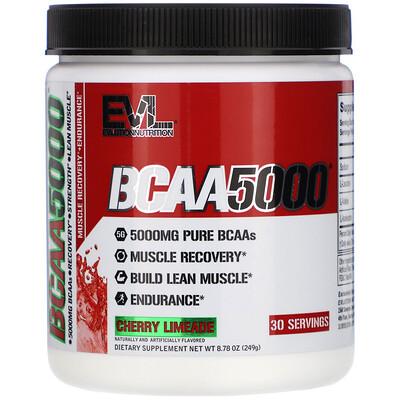 EVLution Nutrition BCAA 5000, Cherry Limeade, 8.78 oz (249 g)