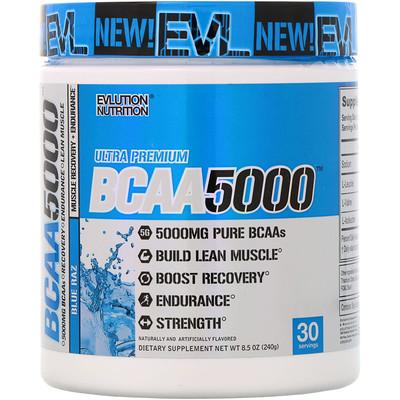 Купить Ultra Premium BCAA 5000, Blue Raz, 8.5 oz (240 g)