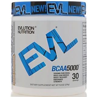 EVLution Nutrition, BCAA5000, Peach Lemonade, 9.8 oz (279 g)