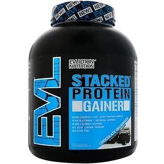 EVLution Nutrition, Stacked Protein Gainer, Chocolate Decadence, 7.23 lb (3276 g)